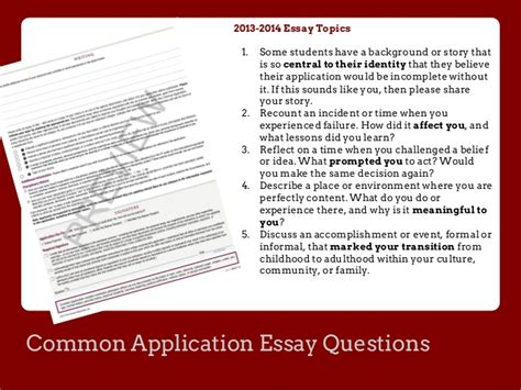 College Application Essay Questions 2013 common application essay questions 2013 project business bahcesehir ielts essay writing