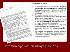 Image result for what is the essay question on the common application