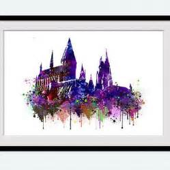 hogwarts poster hogwarts watercolor print harry potter