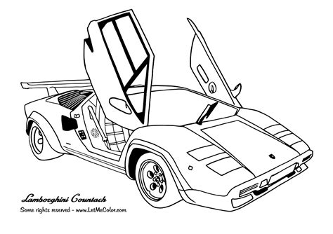 free coloring pages of cars