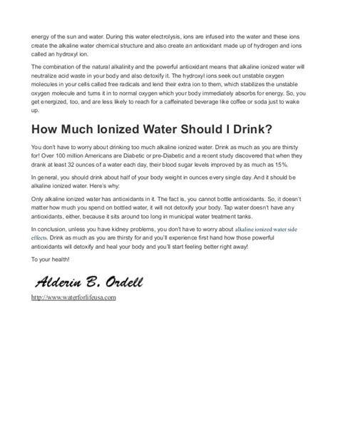 alkaline water ionizer side effects are there any alkaline ionized water side effects