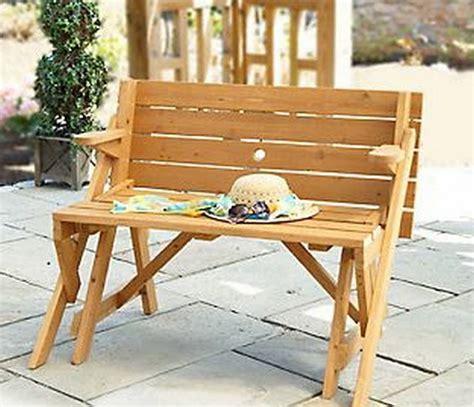 interchangeable picnic table  garden bench mpg act