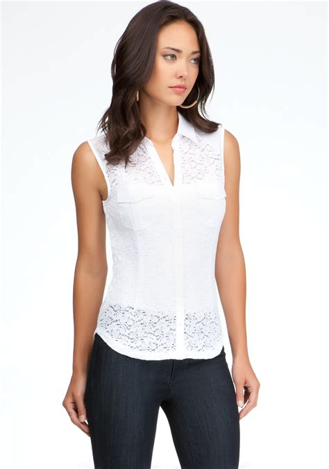 White Lace Button Blouse white lace button up blouse clothing