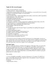 ethnographic research paper topics specific 2btiming 2bof 2bpubertal 2bevents source