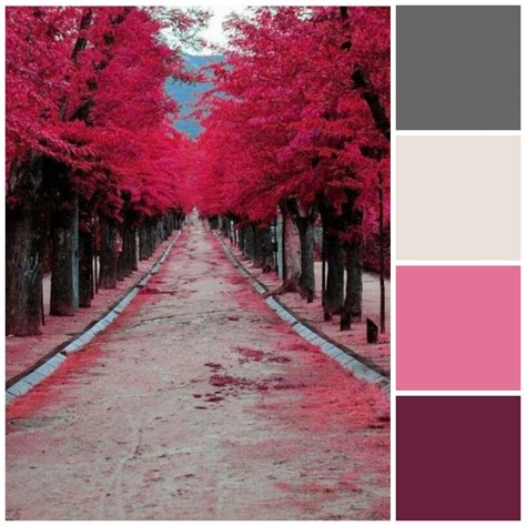 pink and grey color scheme fall style guide for your home page 7