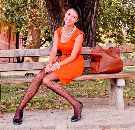 blogger republic what color shoes to wear with an orange dress my
