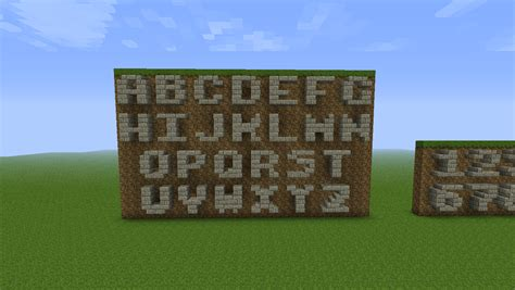 minecraft letters and number blocks tutorial piratecraft