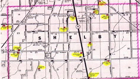 shelby township map townships in shelby county indiana