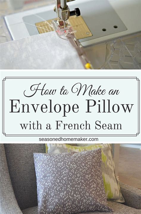 how to make an envelope pillow how to make an envelope pillow with a seam the