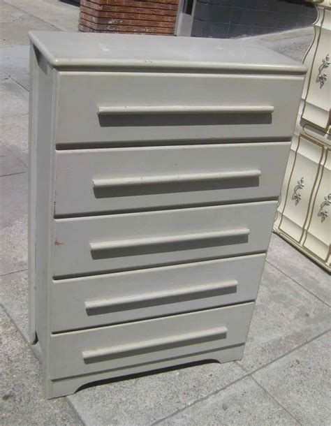 Light Grey Chest Of Drawers by Uhuru Furniture Collectibles Sold Light Grey Chest Of