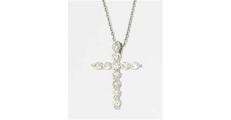 jewelry classes ct effy classique 14k white gold cross pendant