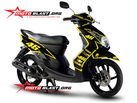 Striping Stiker Yamaha Zr 2010 Hitam modif striping yamaha mio soul 2010 black 46