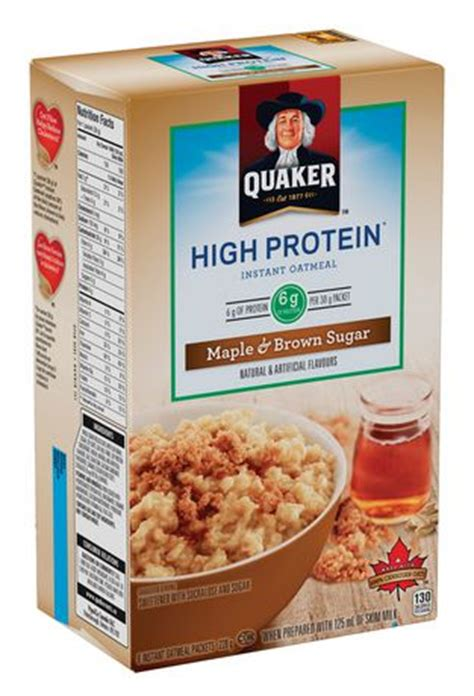 protein oatmeal quaker high protein maple brown sugar instant oatmeal