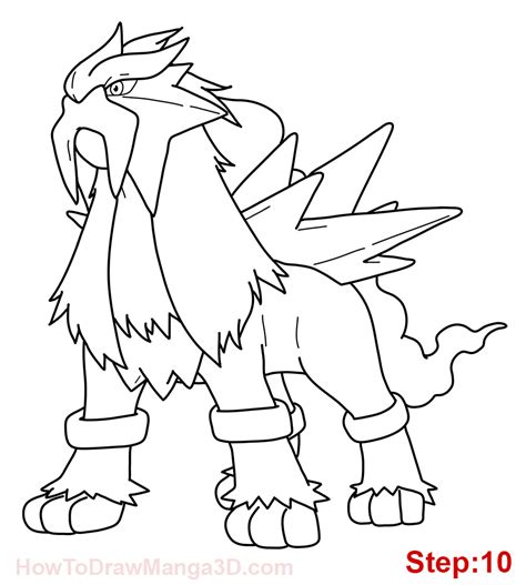 pokemon coloring pages raikou how to draw entei pokemon mangajam com