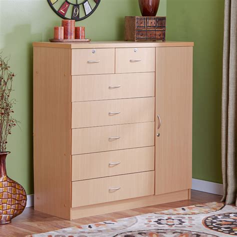 chest with shelves bedroom dresser 7 drawers chest storage cabinet wood clothes organizer ebay
