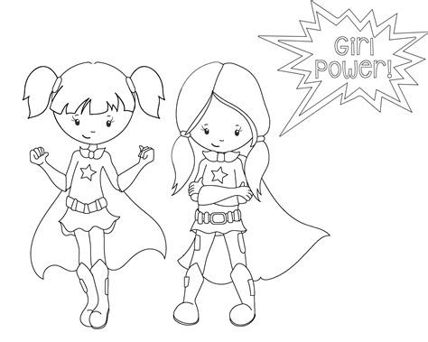 coloring pictures of girl superheroes superhero coloring pages crazy little projects