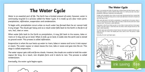 the water cycle explanation writing sle australia