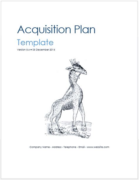 Acquisition Plan Template Ms Word Excel Acquisition Evaluation Template