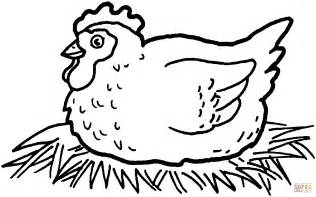 hen hatching chicken eggs coloring page free printable coloring pages