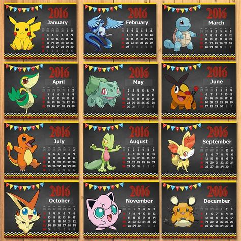 libro pokemon official 2018 calendar pokemon 2016 monthly calendar chalkboard pokemon por sometimespie pokemon fotos