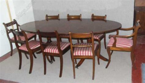 antiques atlas mahogany dend dining table and 8 chairs