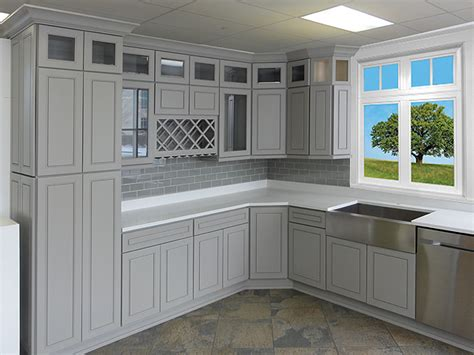 grey shaker kitchen cabinets quicua