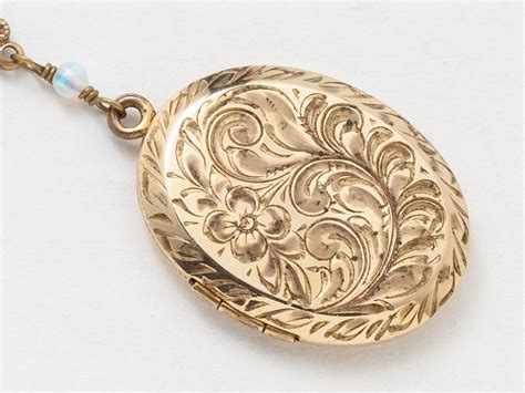 antique gold locket necklace gold filled locket locket