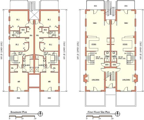multi unit floor plans multi unit building plans house plans home designs