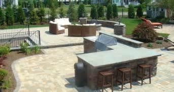Backyard Smoker Custom Stone Patio Design Amp Built Long Island Ny Brick