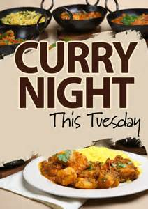 curry night poster template 18
