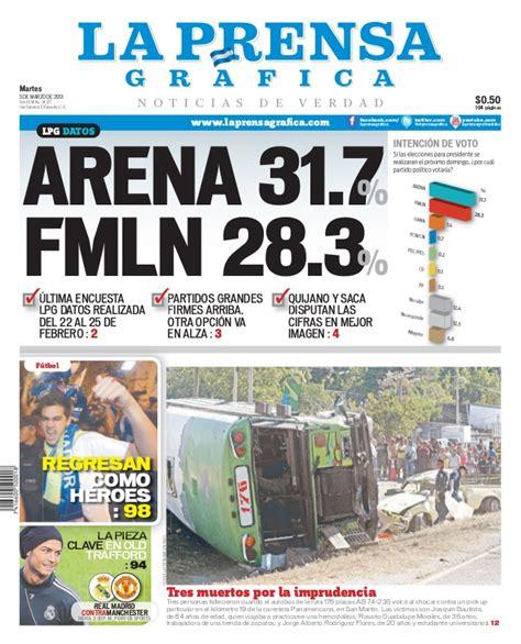 seccin de noticias de el salvador lpg20130305 la prensa gr 225 fica portada pag 1
