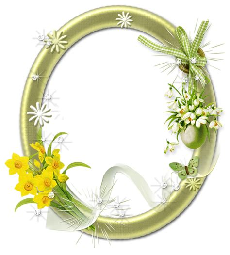 cute oval png photo frame  flowers gallery