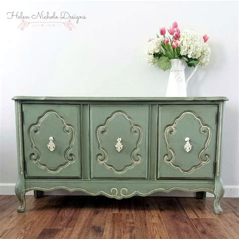 Basil Green French Provincial Buffet General Finishes Provincial Buffet