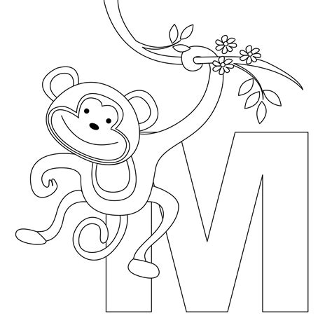 coloring book page letter m free printable alphabet coloring pages for kids best