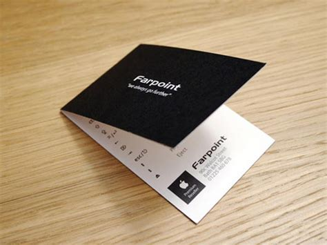 folded business cards design