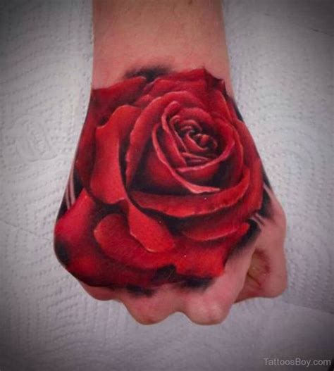 rose on hand tattoo flower tattoos designs pictures page 8