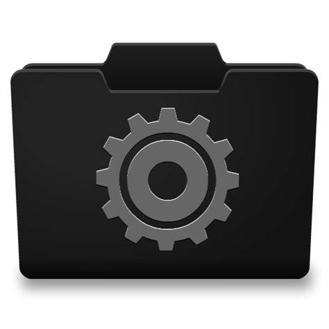 black grey options icon classy folder icons softiconscom