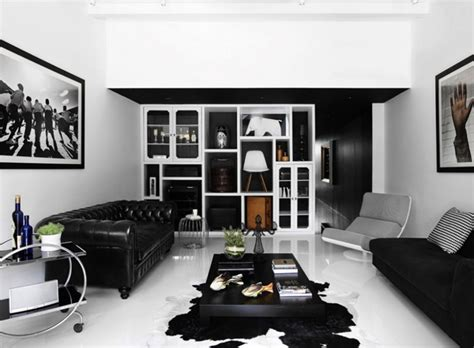Black And White Home Interior by Modern And Black Shop House Interior Design In Singapore