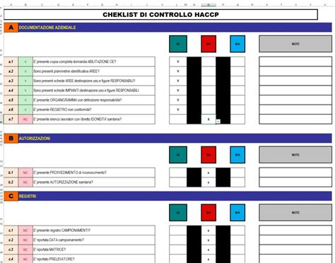 Haccp Check List Per Iauditor Ed Excel Valutazione Rischi Catalogo Iclhub Iauditor Excel Template