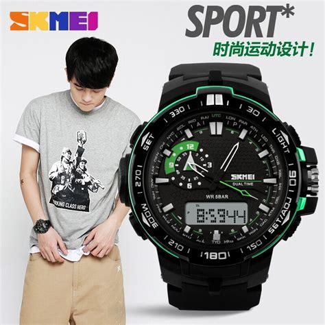 Skmei Casio Water Resistant 50m Ad1081 Jam Tangan Pria skmei jam tangan sport pria ad1081 black white jakartanotebook