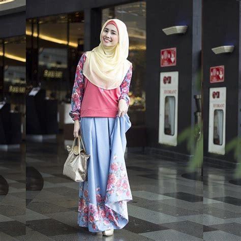 Murahhh Kemeja Songket Velvet Gold 17 contoh model busana muslim setelan rok panjang modis
