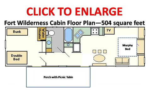 disney floor plans disney s fort wilderness resort cabins floorplan 186 o 186