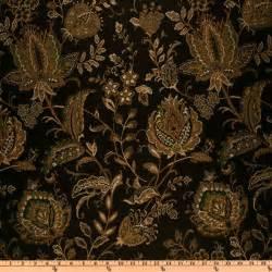 Upholstery Fabric Damask Eroica Aster Floral Jacquard Storm Discount Designer