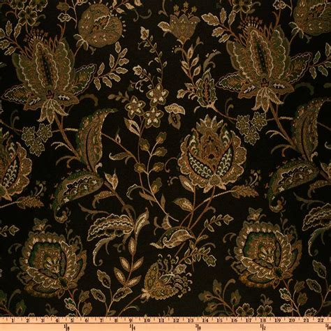 Large Floral Print Upholstery Fabric Eroica Aster Floral Jacquard Storm Discount Designer