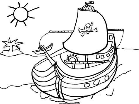 dibujos de barcos para imprimir y colorear barco pirata para colorear