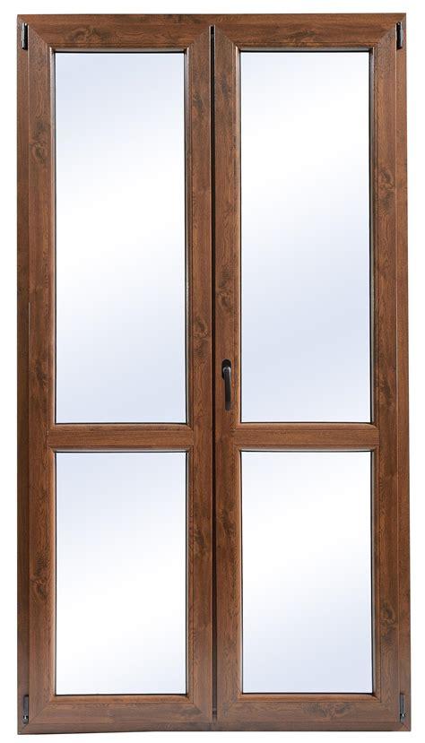 altezza porta finestra porta finestra in pvc noce 2 ante 120x220 cm lxh bricoman