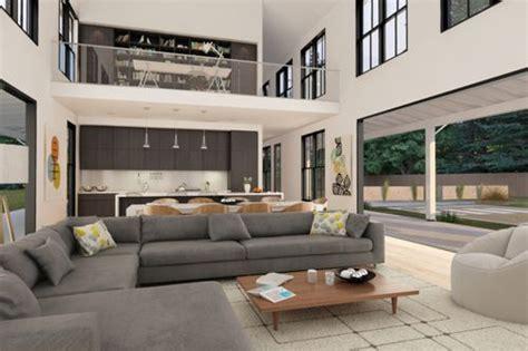 Double Height Living Room by Decoraci 243 N De Salas Modernas Para Casas Campestres
