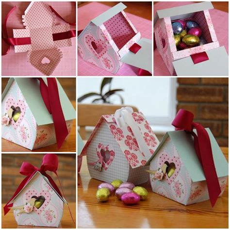 Handmade Gift Box Ideas - diy bird nest gift box