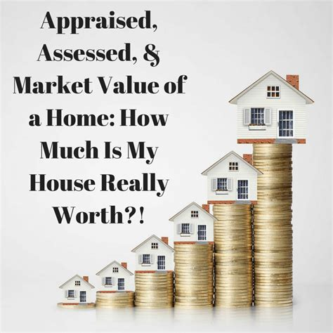 appraised assessed and market value of a home how much