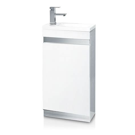 Vigo Bathroom Furniture Vigo 420mm White Cloakroom Vanity Unit